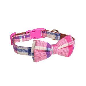 Minsa Collier de dressage doux et réglable pour chiens de petite, moyenne et grande taille 2,5 x 36 ~ 55 cm (rose 1) - Publicité