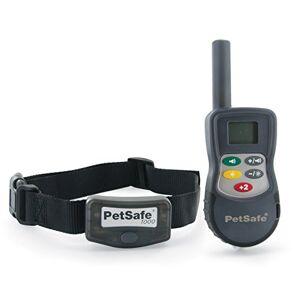 PetSafe Collier de Dressage Etanche et Rechargeable de luxe pour Grand Chien avec Télécommande Ecran LCD Longue Portée 900 m - Publicité