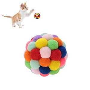 Pssopp Coloré Animal en Peluche Balle Jouet Chien Doux Chiot Chat Jouet Balle Jouer Au Ballon Exercice Interactive Jouet avec Cloche pour La Formation Jouer  Mcher(L) - Publicité