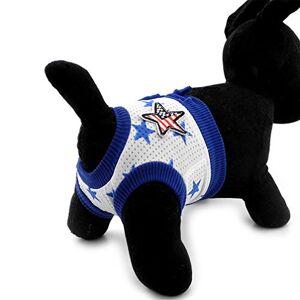 Ranphy Couches hygiéniques pour petit chien Culotte physiologique pour animal domestique Imprimé étoiles Confortable En coton Réutilisable Lavable Taille S - Publicité