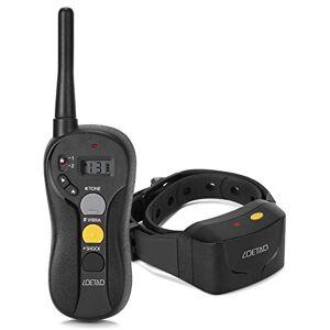 LOETAD Collier de Dressage pour Chien, Collier Electrique Chien avec Télécommande 900M tanche IPX7 3 Modes Beep/Vibration/Choc (Version Améliorée) - Publicité