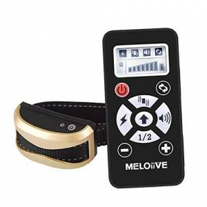 Meloive Collier Anti Aboiement pour Chiens Rechargeable avec Distance de 730m,Collier De Dressage avec Modes Automatique & Manue, 7 Niveaux de Vibration, Choc Electrique, Sonore - Publicité
