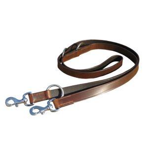 PETS SAFE Laisse type police de qualité en cuir pour chiens Marron - Publicité