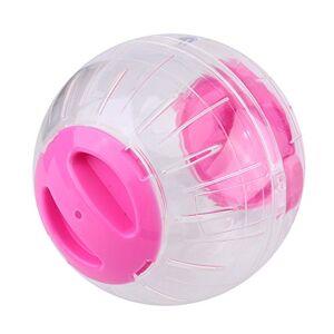 Ponacat Hamster Ballon d'exercice 12 Cm Nouvelle Mode en Plastique Petit Hamster Gerbille Animal de Compagnie Courir Jogging Jouet Ballon d'exercice (Rose) - Publicité
