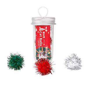 UKCOCO 3 Pices Jouets de Chat, Boules en Papier pour Chat Colorées, Balles  Gratter de Interactives pour Petits et Moyens Chats Cadeaux de Nol (Couleurs Mélangées) - Publicité