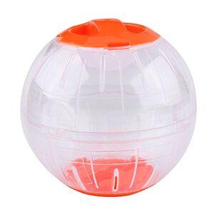 Ponacat Hamster Ballon d'exercice 12 Cm Nouvelle Mode en Plastique Petit Hamster Gerbille Animal de Compagnie Courir Jogging Ballon d'exercice Jouet (Orange) - Publicité