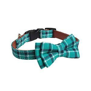 Minsa Collier de dressage doux et réglable pour chiens de petite, moyenne et grande taille 2,5 x 36 ~ 55 cm (vert 1) - Publicité