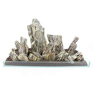 Retne Pierres décoratives en pierre pour aquarium/terarrium Style Iwagumi (20 kg) - Publicité