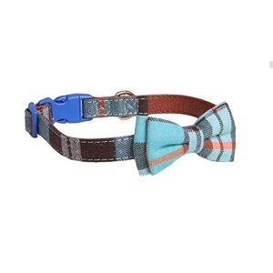 Minsa Collier de dressage doux et réglable pour chiens de petite, moyenne et grande taille 2,5 x 36 ~ 55 cm (bleu 1) - Publicité