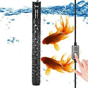 ALLOMN Réchauffeur d'aquarium, Réchauffeur Automatique Thermostat d'aquarium D'aquarium Réchauffeur, 20-34  C Température Réglable avec Ventouse Protection pour Aquarium 50-350L (200W 80-150L) - Publicité