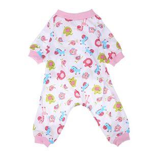 Domybest pour animal domestique Chien Vtements Pyjama en coton doux Dessin animé pour homme endormi Convient pour femme - Publicité