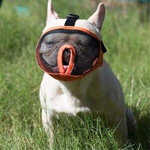JYHY Court museau Chien Muzzle- Réglable Respirant en Maille Muselire Bulldog pour Piqres d'Chewing aboiements Chien Masque,Orange XL - Publicité