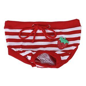SODIAL(R) SODIAL (R) Culotte Sanitaire a Rayures Rouges et Blanches pour Chienne Animal Femelle (M) - Publicité