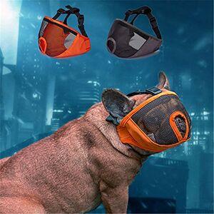 JYHY Court museau Chien Muzzle- Réglable Respirant en Maille Muselire Bulldog pour Piqres d'Chewing aboiements Chien Masque.Gris -S - Publicité