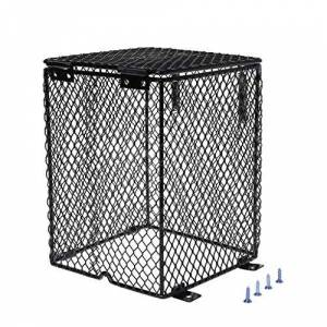 Yanhonin Garde de réchauffeur de Reptile, Enceinte de Lampe chauffante, Cache-Lampe en Treillis métallique Protecteur de Cage (1#) - Publicité