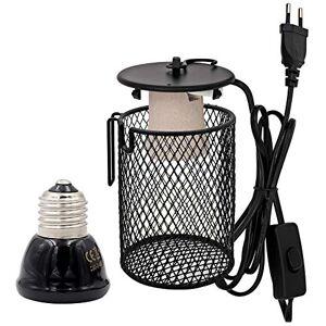 M.Z.A Lampe chauffante en céramique avec support de chauffage pour reptiles infrarouges avec interrupteur pour animal domestique Amphibien, serpent, lézard tortue - Publicité