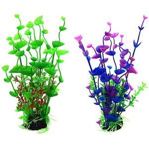 Fodlon Plante Artificielle pour Aquarium Herbe de l'eau Fleur sans Danger Herbe Aquatique Simulation pour Décor Fish Tank Paysage 20CM - Publicité