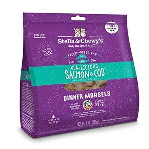 Stella & Chewy's Pouch Nourriture pour Chat séchée au congélateur Saumon et morue sans céréales Sac de 255 g - Publicité