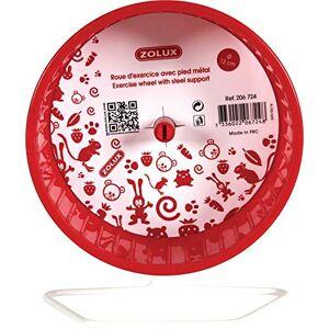 Zolux Roue Pied en Métal pour Petit Mammifre Rouge 20x14x22cm - Publicité