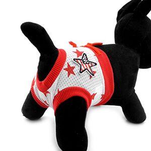 Ranphy Couches hygiéniques pour petit chien Culotte physiologique pour animal domestique Imprimé étoiles Coton Confortable Réutilisable Lavable Taille S - Publicité