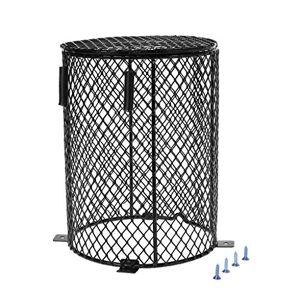 Yanhonin Garde de réchauffeur de Reptile, Enceinte de Lampe chauffante, Cache-Lampe en Treillis métallique Protecteur de Cage (2#) - Publicité