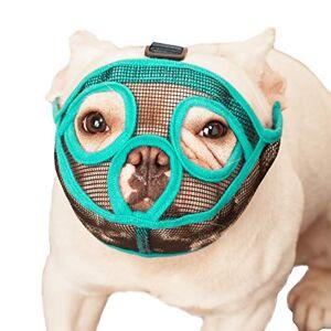 ILEPARK Muselire pour Chiens  museau Court, muselire Bulldog Chien Masque Anti-mordillage, Mastication, Aboiement(M,Vert) - Publicité