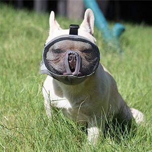 JYHY Court museau Chien Muzzle- Réglable Respirant en Maille Muselire Bulldog pour Piqres d'Chewing aboiements Chien Masque/Gris XL - Publicité