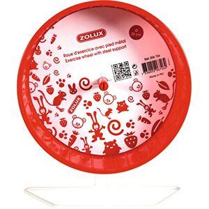 Zolux Roue Pied en Métal pour Petit Mammifre Rouge 20 cm - Publicité