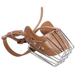 OCSOSO réglable Prime Cuir et fer Cage Muselire Masque,  son panier Motif pour Medium ou Large Breed Chien. Publicité
