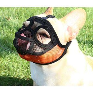 PETEMOO Court museau Chien Muzzle- Réglable Respirant en Maille Muselire Bulldog pour Piqres d'Chewing aboiements Chien Masque - Publicité