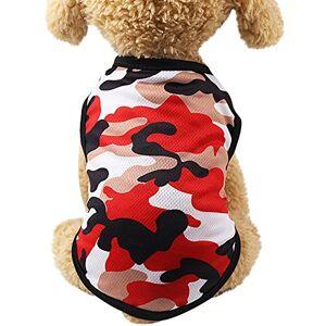 Solike Pet Solike Vetement Chien/Chat Tee Shirt en Coton de Chien Imprimer Camouflage Chiot Petite Taille Habit Chat Sweat Chihuahua Corgi - Publicité
