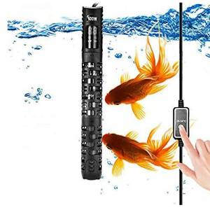 ALLOMN Réchauffeur d'aquarium, Réchauffeur Automatique Thermostat d'aquarium D'aquarium Réchauffeur, 20-34  C Température Réglable avec Ventouse Protection pour Aquarium 50-350L (100W 50-90L) - Publicité
