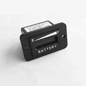 Runleader Jauge du Compteur d'état de Charge de la Batterie 12/24V,indicateur de Batterie au Plomb Indicateur de Batterie pour Chariot de Golf,Chariots élévateurs,Star Car,Yamaha (BI003-12/24V) - Publicité