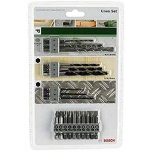 Bosch 19pices Kit Uneo Mixed (pour le bois, le métal et la pierre, accessoires marteau burineur) - Publicité