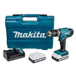 Makita HP457DWE10 Perceuse visseuse  percussion, 2 x 18 V 1,5Ah avec les accessoires - Publicité