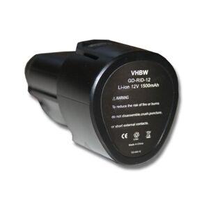 vhbw Batterie compatible avec AEG BBH12, BLL12C, BS12C, BS12C2, BSS12C, BWS12, BWS12CBWS outil électrique (1500mAh Li-ion 12V) - Publicité