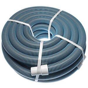 vhbw Tuyau Flexible pour Piscine raccord 32mm 15m pour Skimmer, aspirateur, Filtre stabilisé UV, résistant au Chlore - Publicité