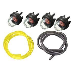 Yardwe Pompe pour Ampoule d'amorage de carburateur Pompe pour Ampoule  Carburant en Plastique avec Tube filtrant pour trononneuse  haie - Publicité