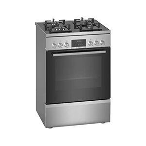 Bosch Cuisiniere gaz  HWS59IE50 Cuisinire 60 cm Inox Table de cuisson Gaz Four Electrique 66 litres Nettoyage EcoClean Classe énergétique A - Publicité