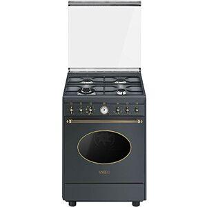 SMEG CO68GMA8 Autonome Cuisinire  gaz A Anthracite four et cuisinire Fours et cuisinires (Cuisinire, anthracite, Rotatif, En haut devant, Cuisinire  gaz, Extra large) - Publicité