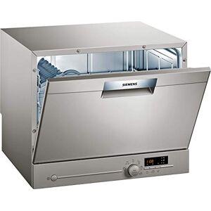 Siemens SK26E822EU iQ300 Lave-vaisselle compact autonome/A + / 174 kWh/an / 2240 l/an/VarioSpeed/verre 40 programme/aquaStop, acier inoxydable laqué - Publicité