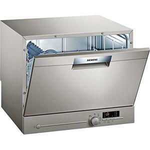 Siemens Lave vaisselle mini  SK26E821EU Mini lave vaisselle- Classe A+ / 48 decibels 6 couverts Silver Inox bandeau : Silver - Publicité