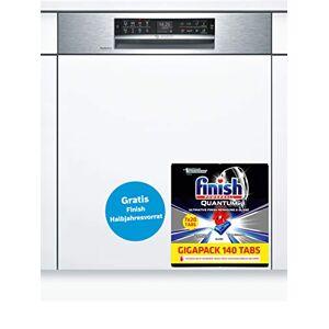 Bosch Lave vaisselle encastrable  SMI68TS06E Lave vaisselle integrable 60 cm Classe A+++ / 42 decibels 14 couverts Intégrable bandeau : Inox Tiroir a couvert - Publicité