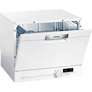 Siemens SK26E222EU iQ300 Lave-vaisselle compact autonome/F / 61 kWh / 6 MGD/varioSpeed/verre 40 / aquaStop - Publicité