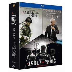 Clint Eastwood-Portraits de Héros-Le 15h17 pour Paris + Sully + American Sniper [Blu-Ray] - Publicité