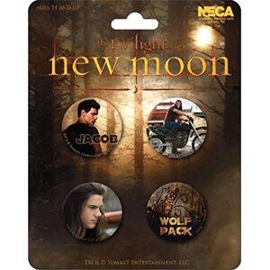NECA Lot de 4 badges Twilight  Jacob & the Wolf New Moon (Breaking Dawn) - Publicité