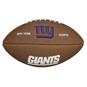 Wilson Ballon Football Américain, Homologué NFL, Utilisation récréative, Taille Mini, NFL TEAM LOGO NEW YORK GIANTS, Brun,