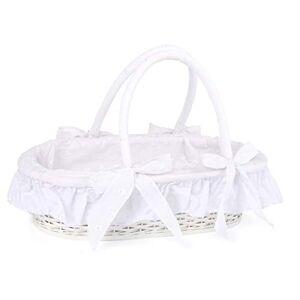 Small Foot -11416 couffin pour poupées en Blanc, recouvert de Tissu  l'intérieur, Oreiller et Couverture Inclus,  partir de 3 Ans Jouets, 11416, Multicolore - Publicité