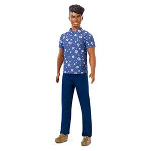 Barbie Fashionistas poupée mannequin #114 Ken avec chemise bleue  fleurs, jouet pour enfant, FXL61 - Publicité