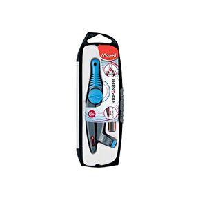 Maped Coffret Compas STOP & SAFE 1 compas bague + 1 crayon graphite mini Black'Peps Pointe Auto-rétractable Compas Scolaire pour Enfant  partir de 6 ans Coloris Aléatoire - Publicité